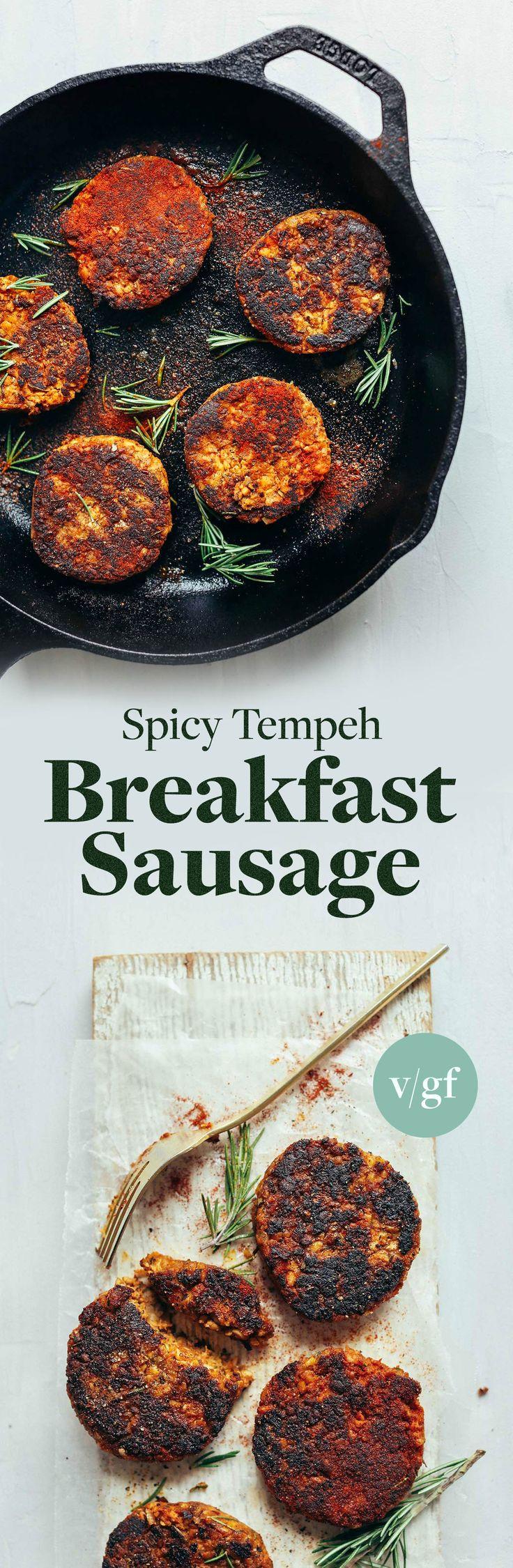 Spicy Tempeh Breakfast Sausage (vegan + gf) | Minimalist Baker