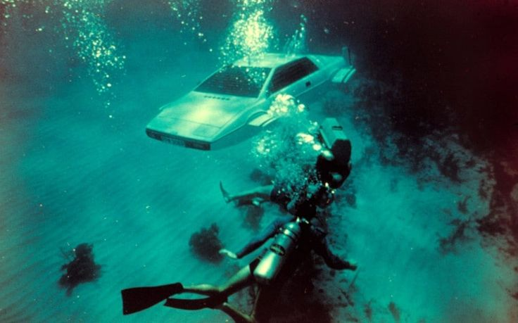 """James Bond's world-famous submarine car, used in The Spy Who Loved Me, is   going up for auction at RM Auctions with a £1 million guide price. Don Rose,   an RM car specialist, says the Lotus Esprit is a """"unique example of   popular culture""""."""