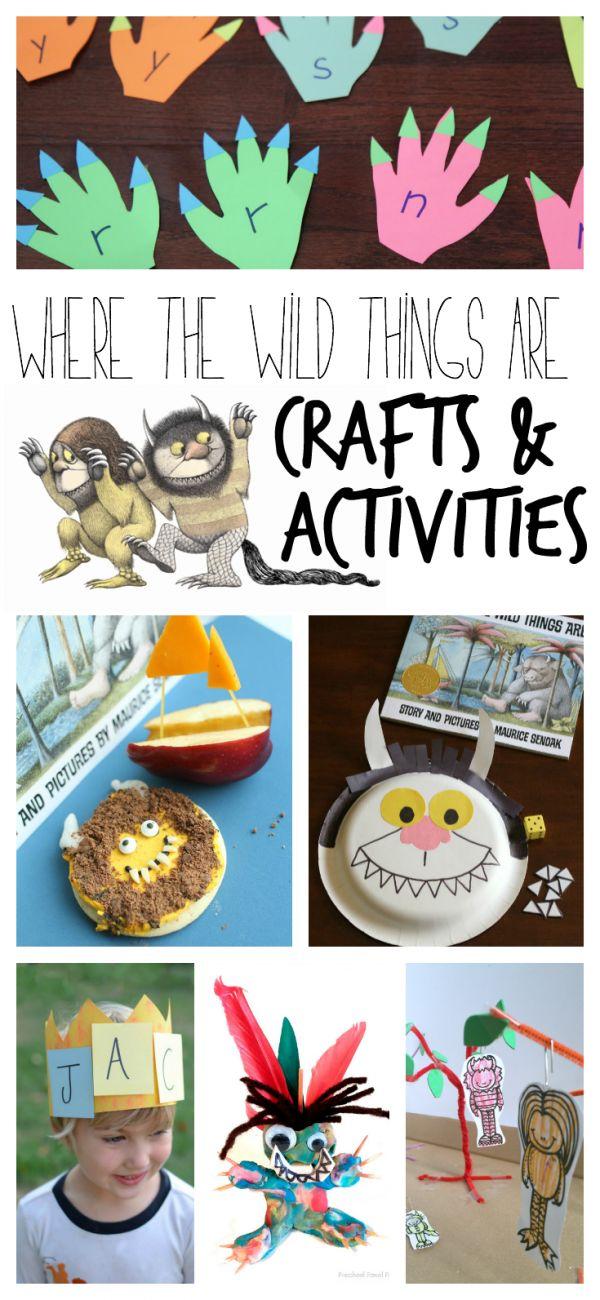 Manualidades y actividades para trabajar el cuento Donde viven los monstruos / Where the wild things are