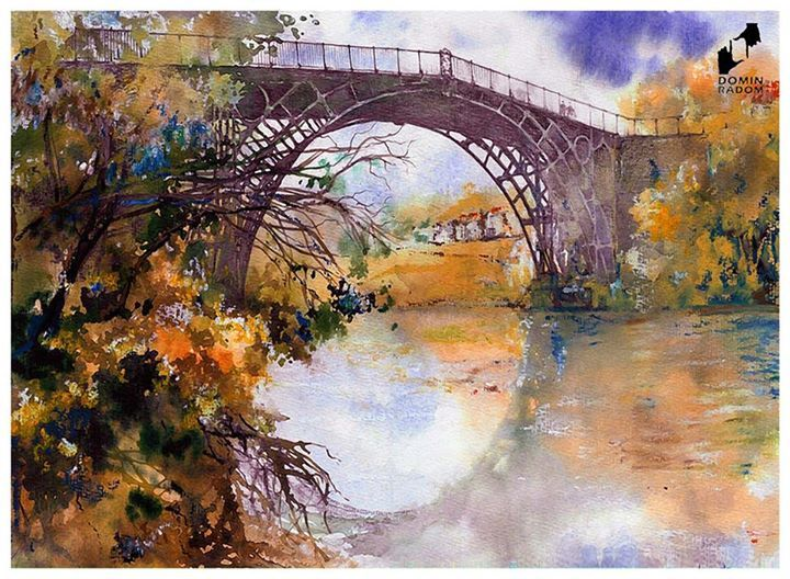Iron bridge made in DOMIN Radom drawing school / Most żelazny wykonany w szkole rysunku DOMIN Radom https://www.facebook.com/DominRadom