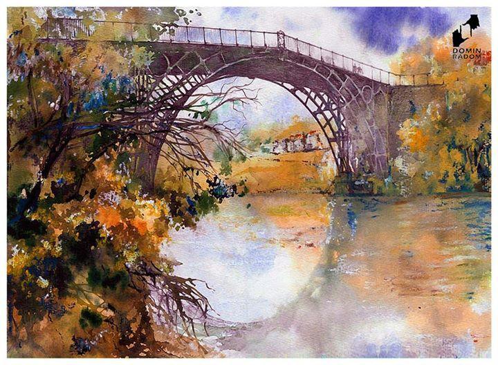 Iron bridge made in DOMIN Radom drawing school / Most żelazny wykonany w szkole rysunku DOMIN Radom https://www.facebook.com/DominRadom