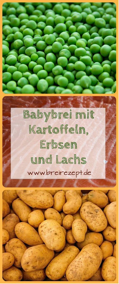 Babybrei mit Kartoffeln, Lachs und Erbsen