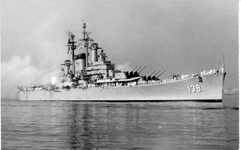 """USN - """"USS SALEM"""" (CA-139) Is a (717') Des Moines Class Heavy Cruiser - Commissioned 14 May, 1949 – Compliment: 1,799 Officers and Enlisted Men – Armament: 9 x 8 Inch (203mm) in Triple Mounts, 12 x 5 Inch (127mm) in Twin Mounts, 20 x 3 Inch (76mm) Guns, 8 x 20mm Guns and 1 Utility Helicopter - Decommissioned 30 January 1959 – Became a Museum Ship, Quincy, Massachusetts, October, 1994"""