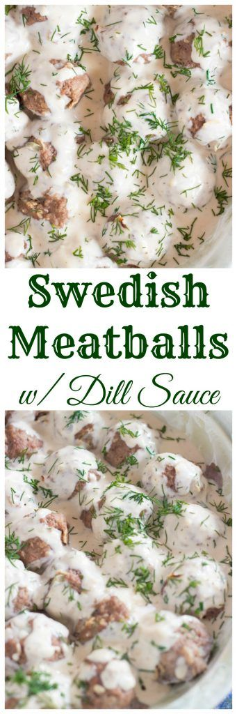 Smothered in a simple and quick creamy dill sauce, this recipe for Swedish Meatballs (easy too!) is a meal you can get on the table in about 30 minutes.