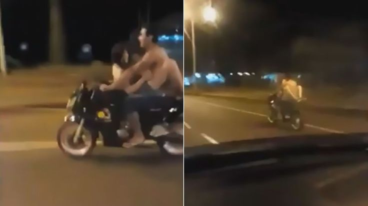 RS Notícias: Casal é flagrado fazendo sexo sobre moto em movime...