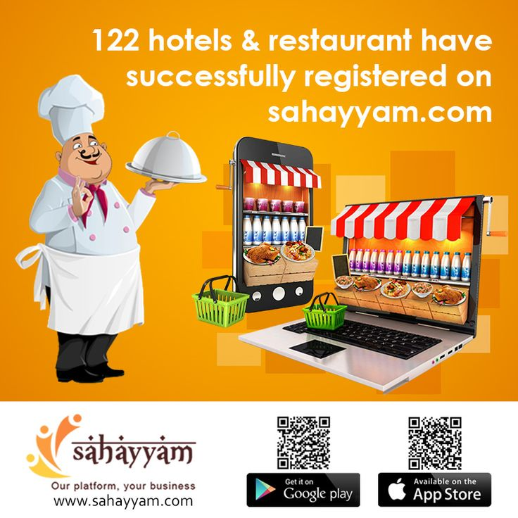 122 hotels & restaurant have successfully registered on sahayyam  http://sahayyam.com Our platform, your business.   #SellingOnline #OnlineStore #OnlineSellers #Hotel #Restaurant #OnlineShopping #order #Shop #online #Sahayyam #ShopOnline #eCommerce #DigitalIndia #business #GooglePlay #AppStore