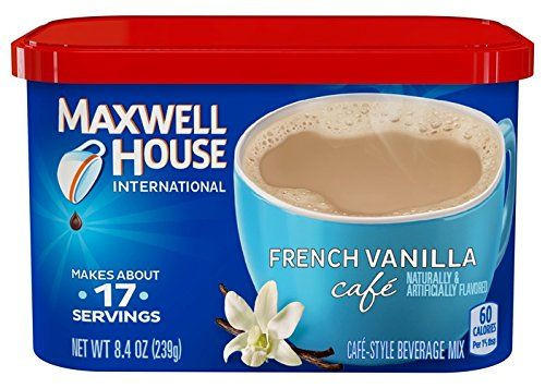 Maxwell House International Coffee French Vanilla Cafe, 8.4-Ounce Cans (Pack of 4) - http://coffeecenter.org/maxwell-house-international-coffee-french-vanilla-cafe-8-4-ounce-cans-pack-4/