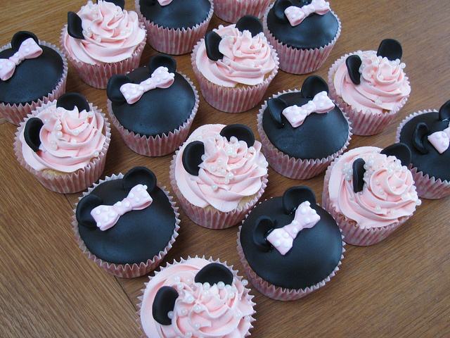 Minnie Mouse Cup Cakes   by Blue Door Bakery