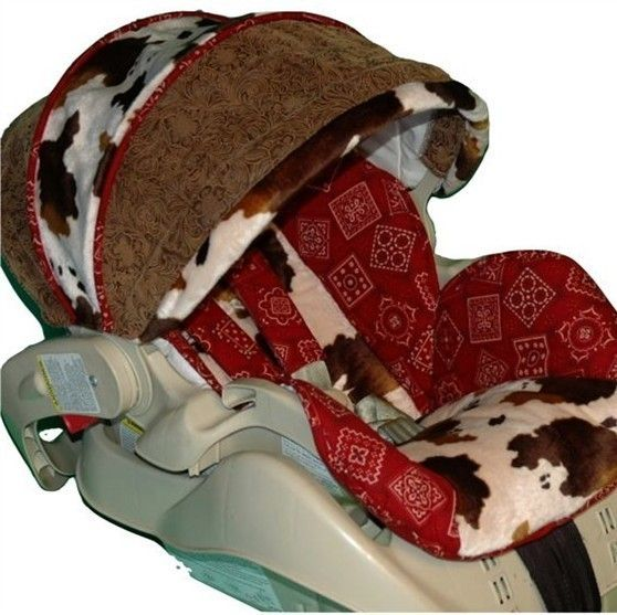 Custom Boutique Infant Cowboy Bandana Car Seat by smallsproutsbaby, $109.00