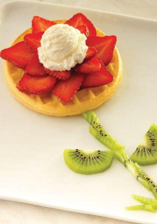 Make breakfast fun by creating this Blooming Flower