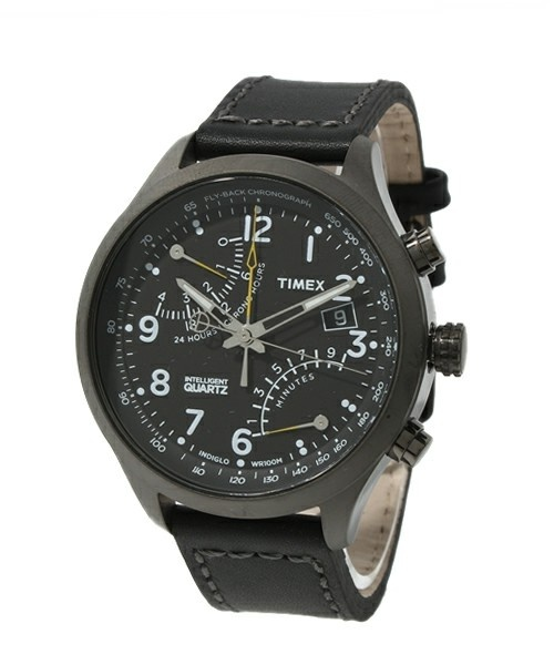 TIMEX(タイメックス)のRacing Fly Back T2N699(腕時計)|ブラック×ブラック
