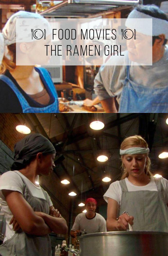 """Uma mega lista com mais de 35 #foodmovies, filmes sobre comida, com comida, pela comida, pra te dizer os melhores e os imperdíveis! Veja o post completo pesquisando por """"Food Movies"""" no site :-) Ramen Girl, com a fofa Brittany Murphy tentando virar cozinheira de ramen. É divertido! Pra assistir comendo um miojinho :-)"""