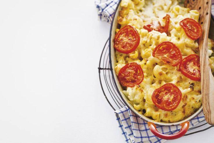 Kijk+wat+een+lekker+recept+ik+heb+gevonden+op+Allerhande!+Bloemkoolpasta+met+Leidse+kaas