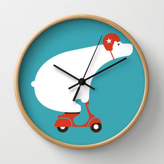 http://society6.com/product/polar-bear-on-scooter_wall-clock?curator=stdamos