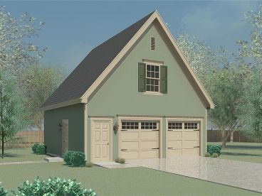 Garage Loft Plans are detached garages designed with style and flair to complement an existing home.