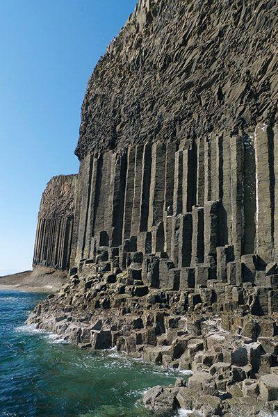 The basalt columns of the Isle of Staffa, said to have inspired Felix Mendelssohn's Hebrides Overture. Photograph: Otter Films/Maramedia