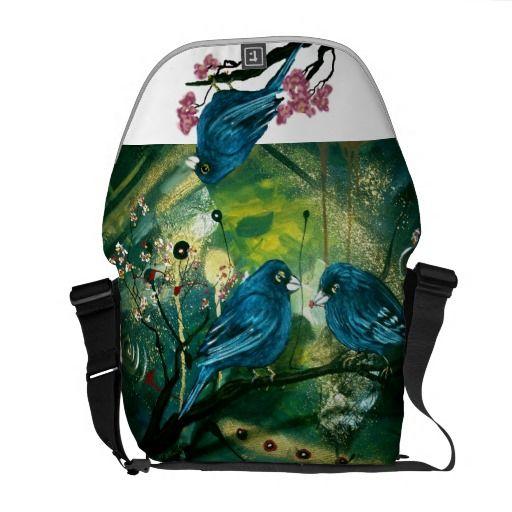 Gorgeous Bluebird Messenger Bag (design by Cherie Roe Dirksen) #bags