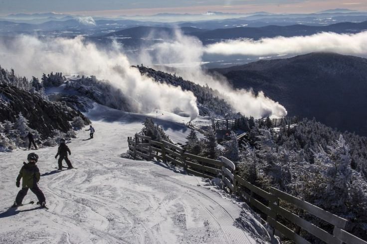 Jay Peak Resort - Jay, Vermont. 2153 vertical feet with 76 trails and great back country. Definitely want to ski here.