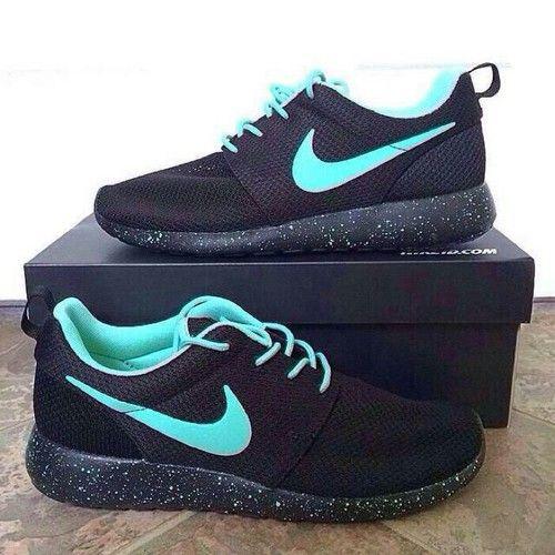 Black and Blue Nike Roshes
