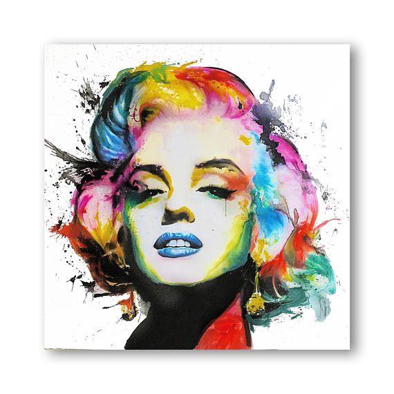 Marilyn Monroe Abstract Painting, Marilyn Monroe Abstract Wall Art