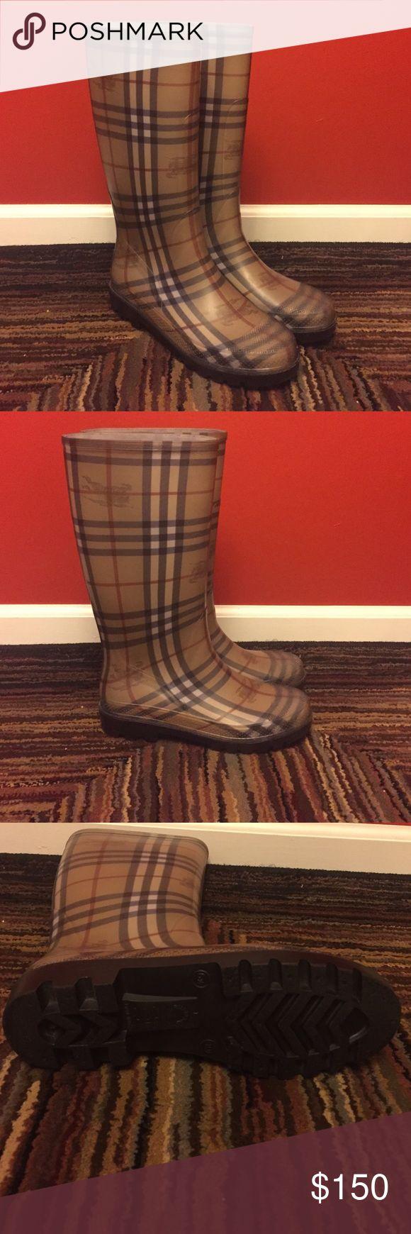 Authentic Burberry Rainboots Women's Authentic Burberry Rainboots. Excellent condition wore once. Original Checker print. Size 40 Burberry Shoes Winter & Rain Boots