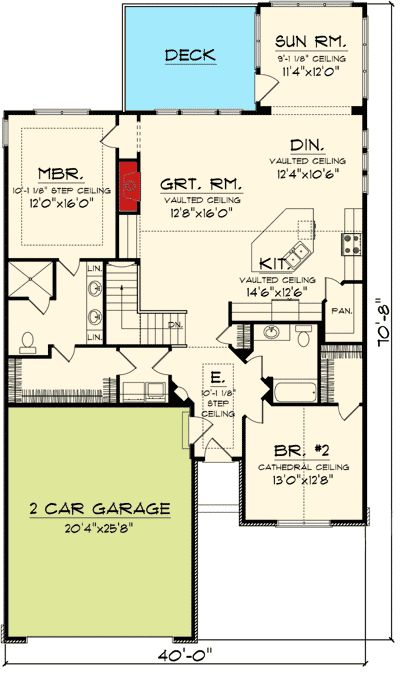 Plan 89860AH: Charming 2 Bedroom Ranch Home Plan