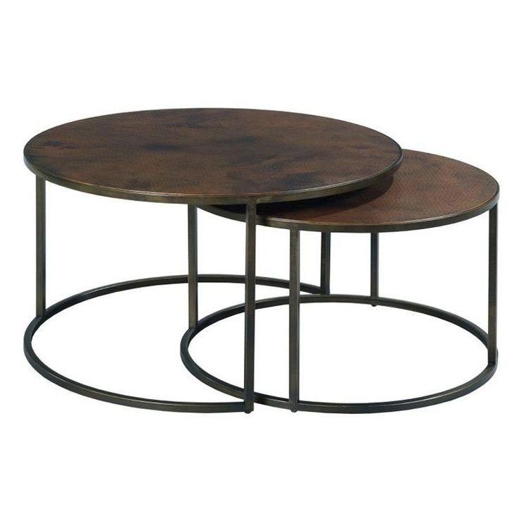 Hammary Sanford Round Nesting Cocktail Tables - 553-911