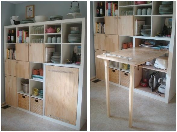IKEA Expedit kitchen storage and counter - IKEA HACK - bjl
