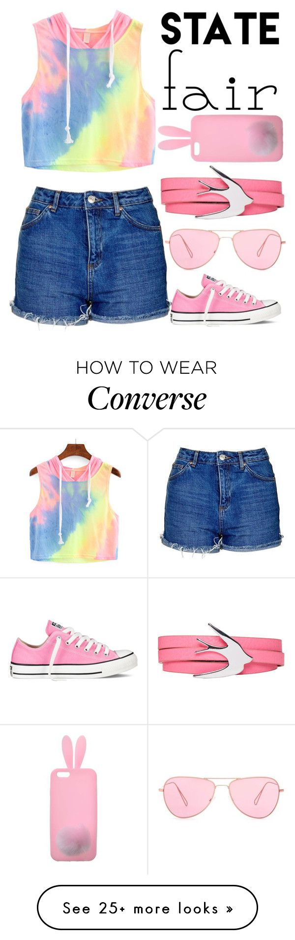 """State Fair"" by gabrielledixon on Polyvore featuring Topshop, Converse, Miss Selfridge, McQ by Alexander McQueen, Isabel Marant, statefair and summerdate"