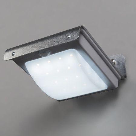 Epic Wandleuchte Solaris Aluminium mit Sensor Sensorleuchte Au enleuchte solarleuchte bewegungsmelder