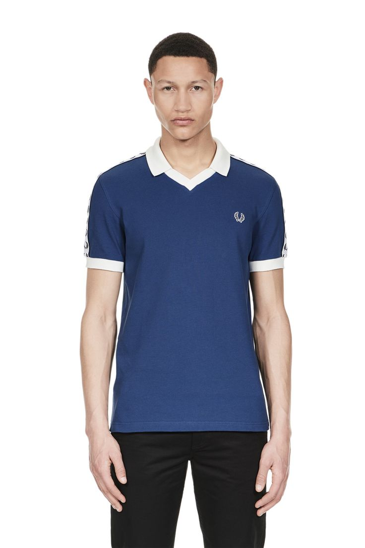 Fred Perry - Sports Authentic Taped Piqué Shirt Pacific