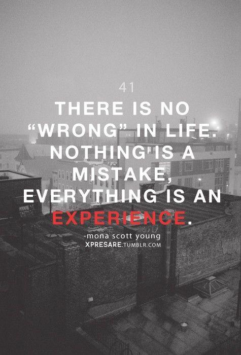 no wrong in life