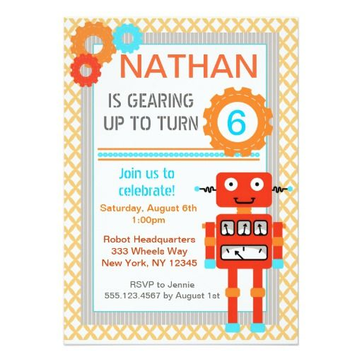 412 best robot birthday party invitations images on pinterest robot birthday party invitations modern filmwisefo