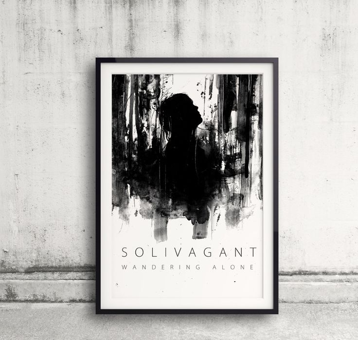 Solivagant, Word Art, Typography Art, Word Meaning, Wandering Alone, Black And White Art, Ink Painting, Walking, Forest Art, Looking Up by BlackraptorArt on Etsy https://www.etsy.com/listing/240396289/solivagant-word-art-typography-art-word