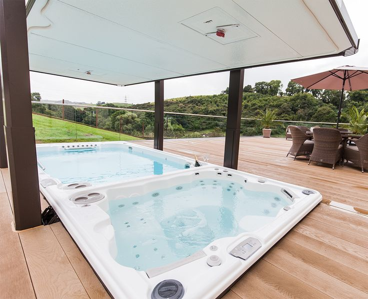 Love The Colours They Chose For Swim Spa Automatic Cover And Synthetic Deck