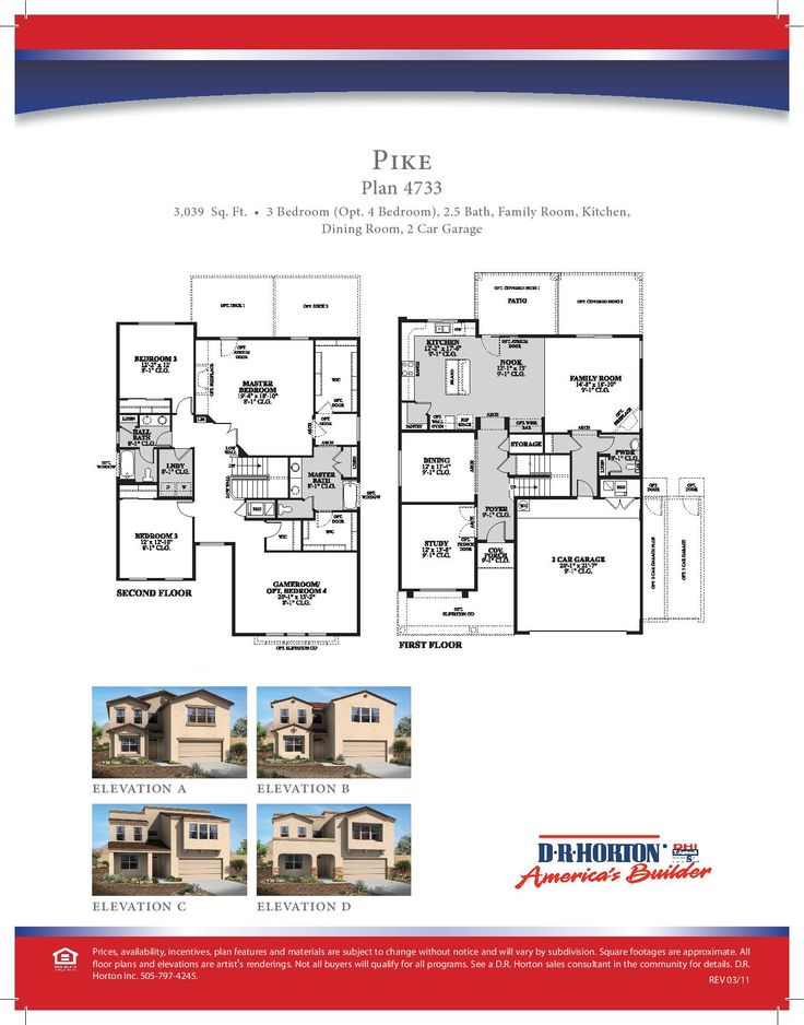 61 best DR Horton Floor Plans images on Pinterest | Floor plans ...