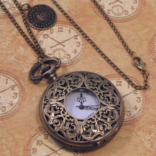 pocket watch...I'd wear this as a necklace