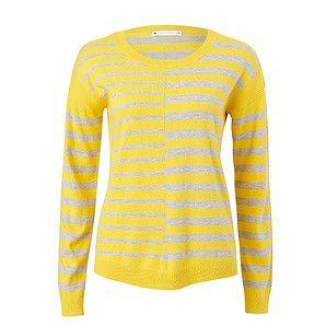 Drop Shoulder Stripe Sweater - Yellow / White – Target Australia
