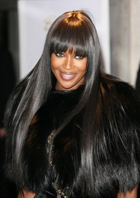 Naomi Campbell's Hair. It doesn´t get any flatter...