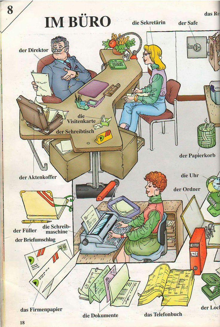Bildwörterbuch -Im Büro