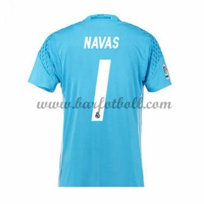 Real Madrid Fotbollströja 2016-17 Navas 13 Målvakt Hemma Tröjor