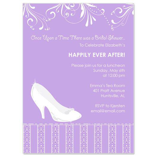 Cinderella Bridal Shower Invitation. $15.00, via Etsy.