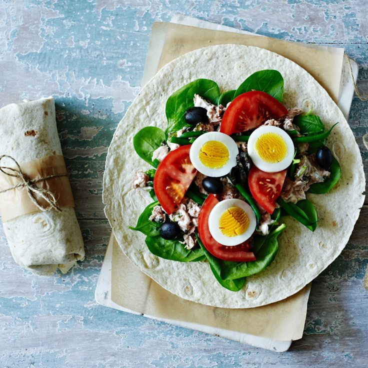 A light and healthy version of the classic salade Niçoise in a handy picnic-friendly wrap.