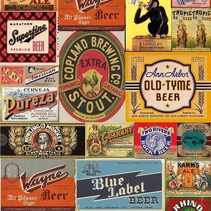 """Papel de Parede Adesivo """"Beer Label"""" - AdsiveShop Adesivos Decorativos"""