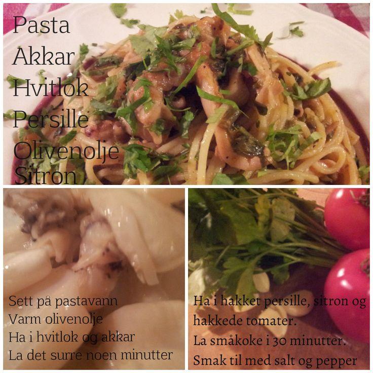 Spaghetti med akkar