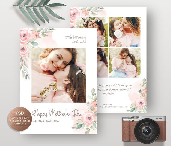 Check Out This Item In My Etsy Shop Https Www Etsy Com Listing 759735415 Mothers Day Photo Card T Photo Card Template Mother S Day Greeting Cards Photo Cards