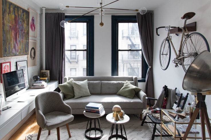 One of the challenges of living in a small space is that often, your living room is doing a lot of work: as workspace, lounge space, dining room, and maybe even guest room when the occasion demands