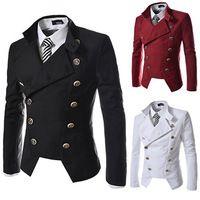 2015 mode herren zweireiher blazer weiß männer blazer rot blazer männer herren slim fit anzüge terno masculino anzug männer