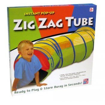 Free Time 4 Kidz Instant Pop Up Zig Zag Tube - ideal outdoor or indoor toy