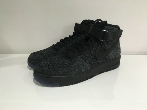 Image of air force 1 mid ulta flyknit black